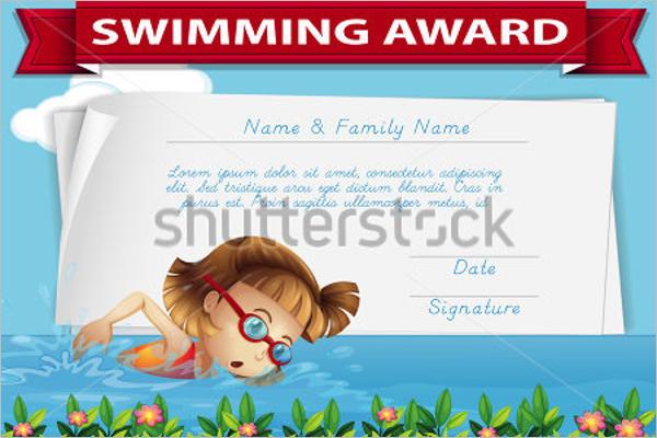 Free Swimming Certificate Design