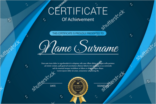Free Vector award certificate