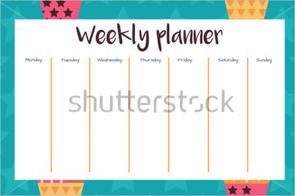 Free Weekly Planner Template