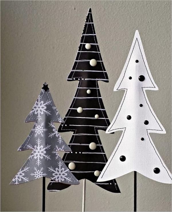 Free White & Black Christmas Tree