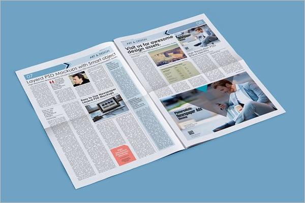 Full Newspaper Mockup Template