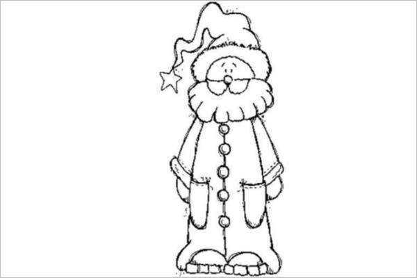 Full Santa Claus Drawing Template