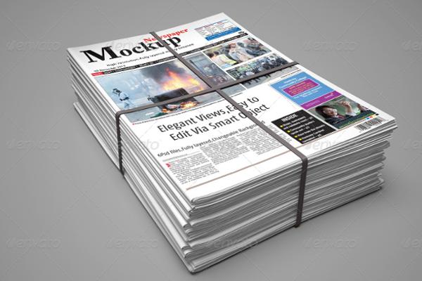 Full layered newspaper mockup