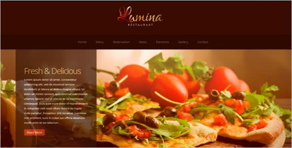 FullyresponsiveRestaurant Website Template