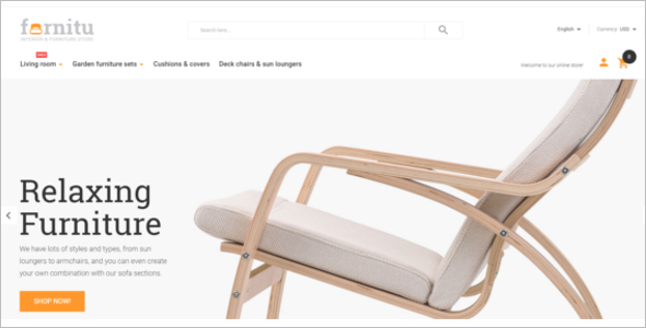 Furniture Magento Website Template