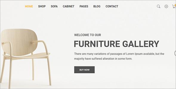 Furniture StoreWebsite Template