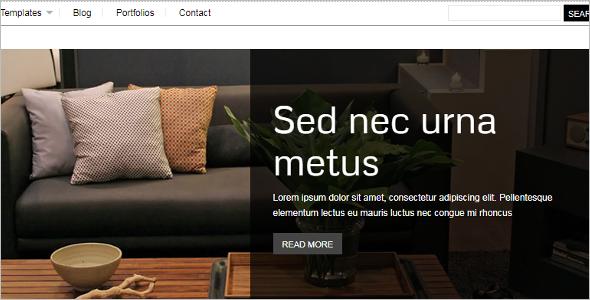 Furniture Website Template