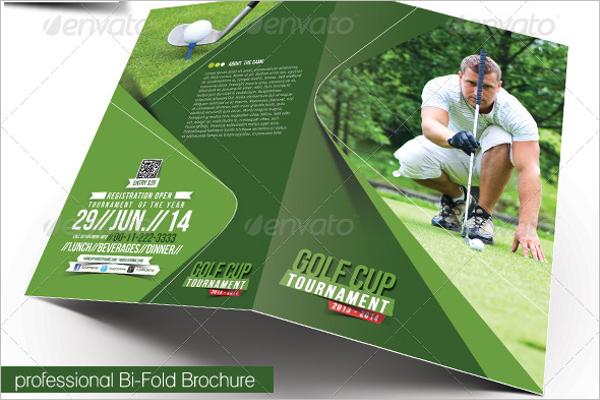 Golf Bi-fold Brochure Template