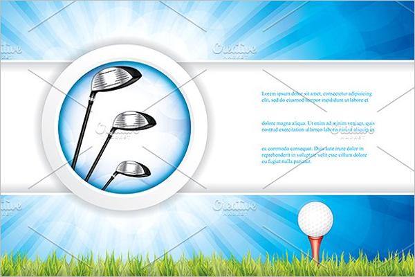 Golf Brochure Design Template