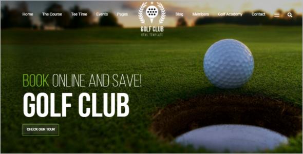 Golf Course Website Template