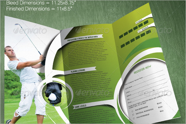 Golf Trifold Brochure Template