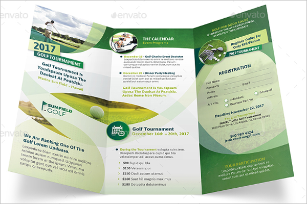 Golf Trifold Brochure