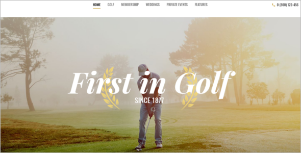 Golf Website WordPress Theme