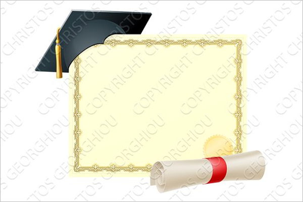 Graduate Certificate Background Design