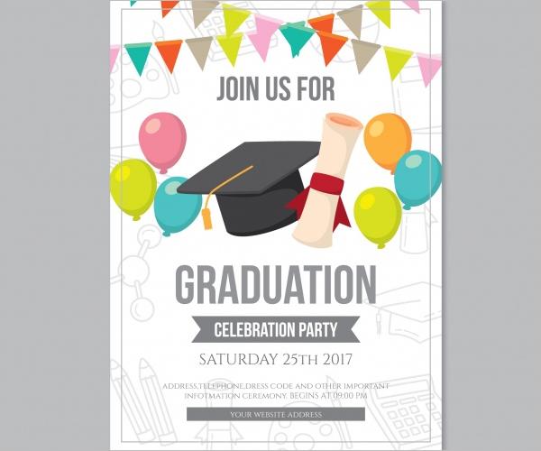 Graduation party brochure