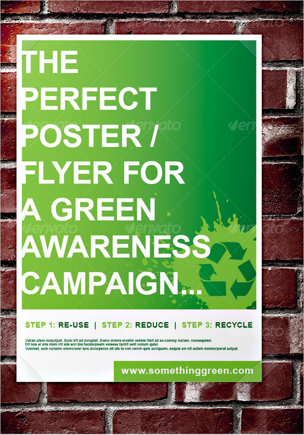 Green Awareness Campaign Poster Design