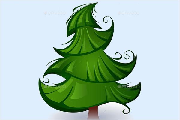 Green Christmas Tree Template