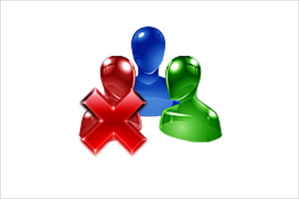 Group Delete Icon Design