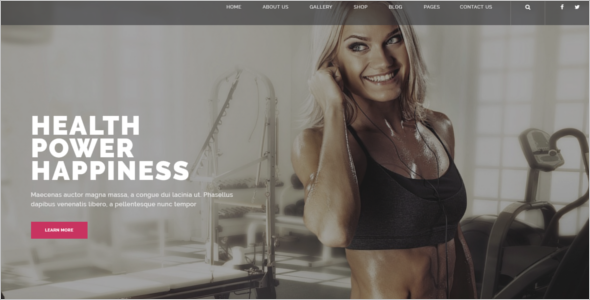 Gym & Sports Website Template