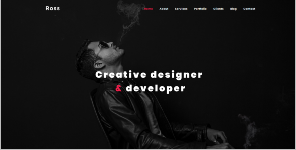 HTML Portfolio Website Template