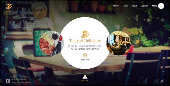 HTML Restaurant Website Template