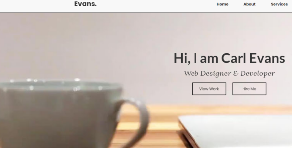 HTML Simple Website Template