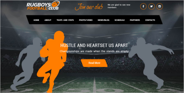HTML Sports Website Template
