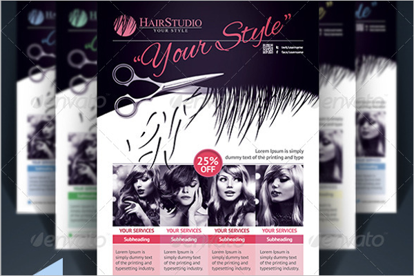 Hair Salon Brochure Design