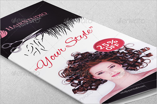 Hair Service Brochure Template
