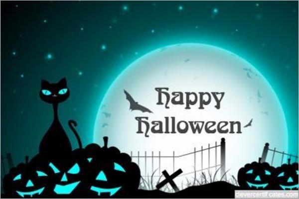 Halloween Certificate Background Design
