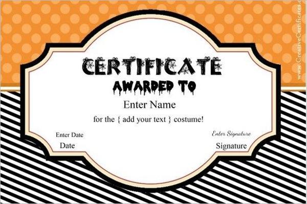 Halloween Certificate Template