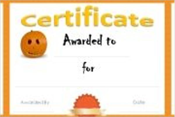 Halloween Death Certificate Template
