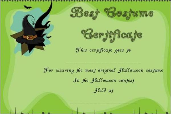 Halloween Dressed certificate Design