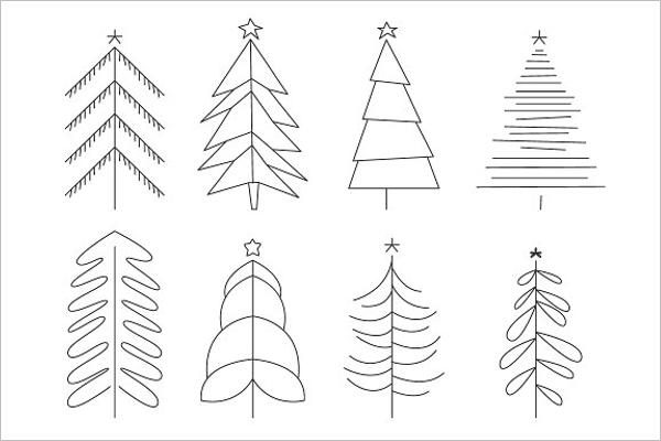 Hand Drawn Black Christmas Tree Idea