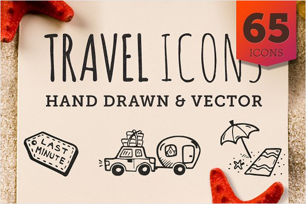 Hand Drawn Travel Icon Design