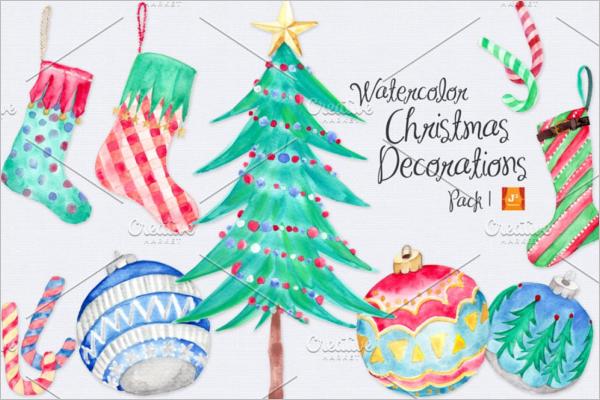 Hand Painted Christmas Stocking Idea