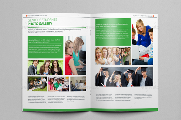 College Brochure Templates Free PSD PDF Word Sample Designs - High school brochure template
