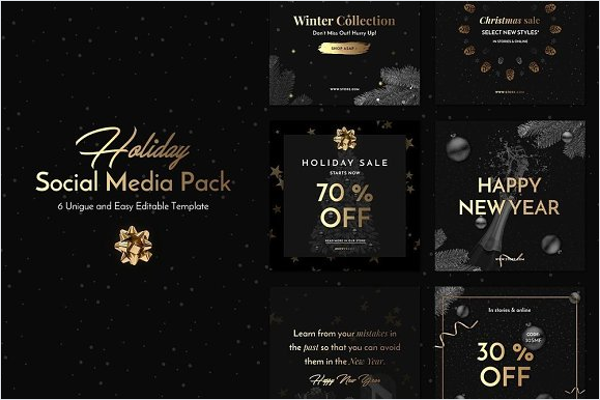 Holiday Social Media Pack Design