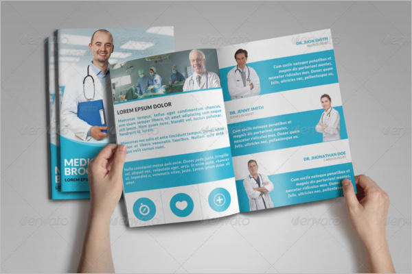 Hospital Bifold Brochure Template