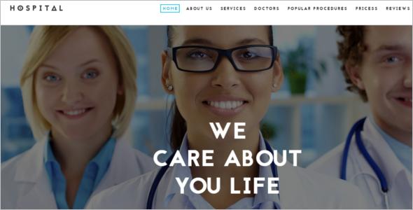 Hospital Website Template