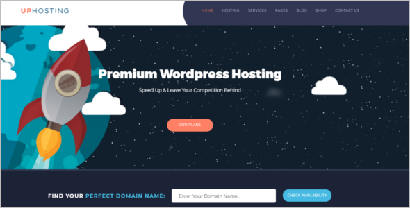 Hosting CSS Website Template