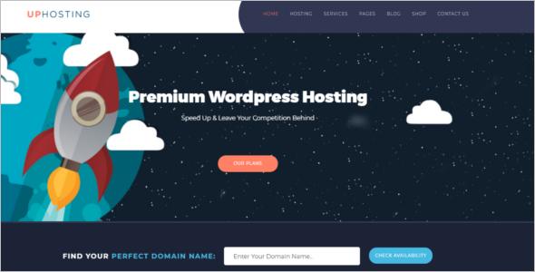 Hosting CSS Website Template