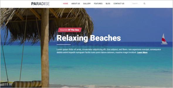 Hot Paradise Travel Joomla Template