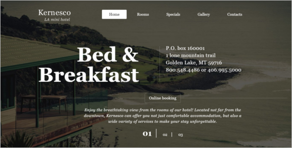 Hotel & Room Booking Website Template