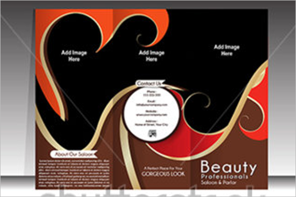 Illustration Hair Salon Brochure Template