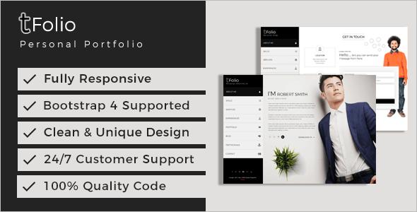 Indesign Portfolio Website Template