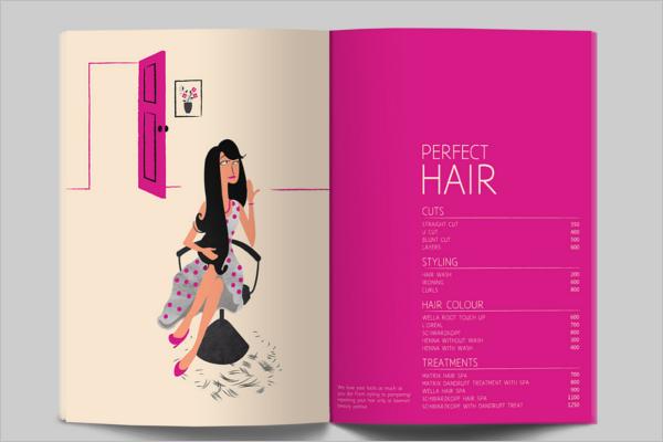 Indian Beauty Parlour Brochure Template