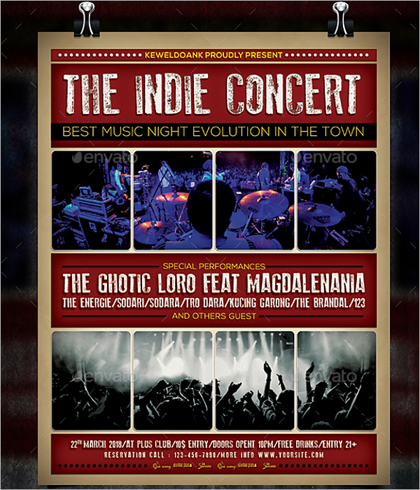 Indie Band Poster Template