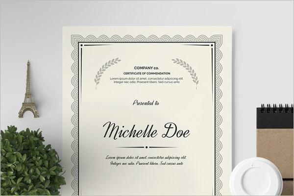 Innovative Award certificate Template