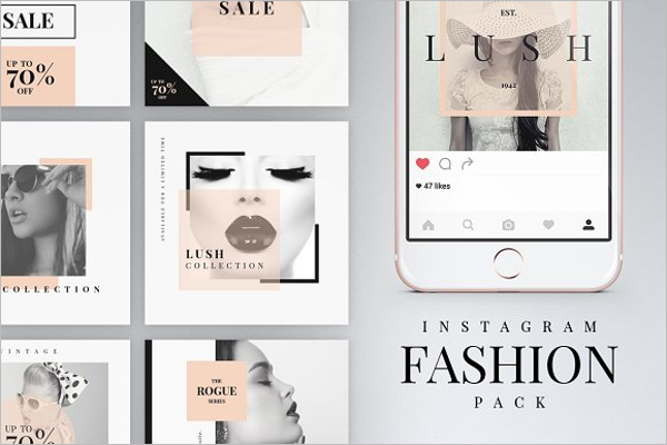Instagram Fashion Pack Mockup